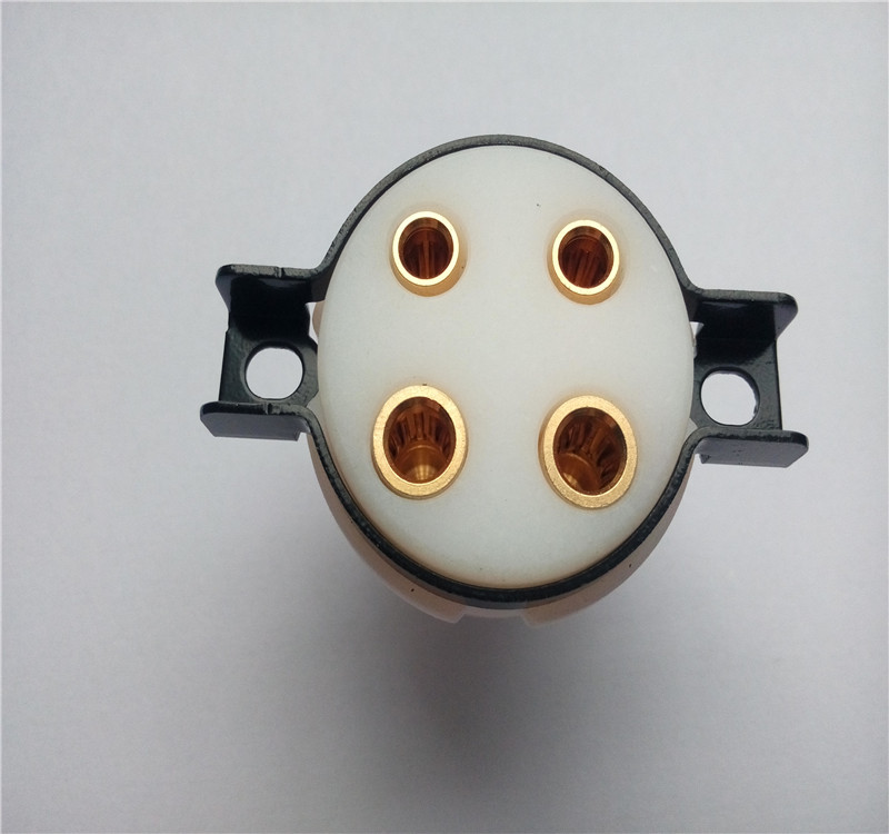 Teflon beryllium copper shrapnel tube socket  4 pin tube holder socket for amplifier PCB 2A3 45 50 27 5Z3 6A3 83 274A 300A