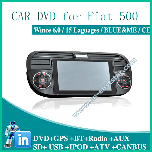 car monitor for fiat 500 abarth 500 blue me gps dvd bt radio usb aux sd ipod audio video player. Black Bedroom Furniture Sets. Home Design Ideas