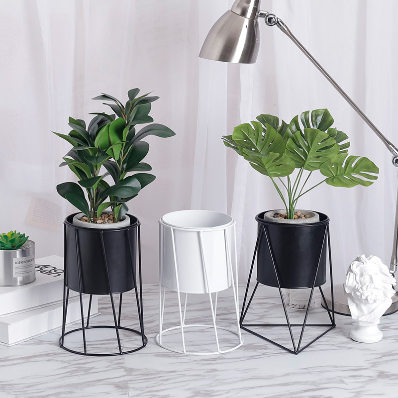 Nordic Creative Metal Flower Pot  Indoor Balcony Desktop Planters Home Decoration Flower Stand