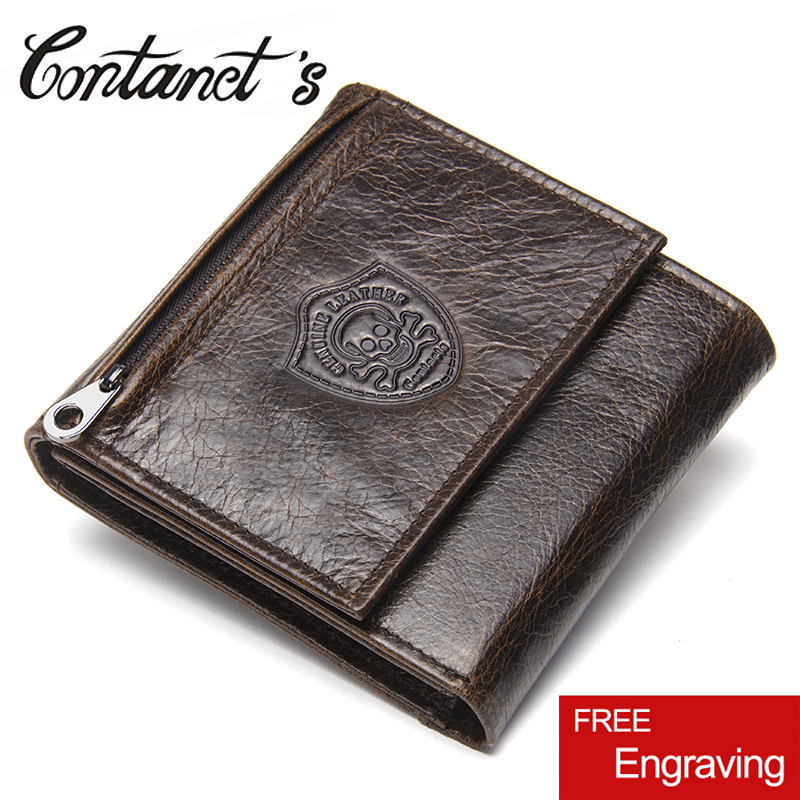Men Wallets Genuine Leather Men Short Wallet Zipper Coin Pockets Purse Trifold Design Male Purse Card Holder Large Capacity contact s genuine cowhide leather men wallet trifold wallets fashion design brand purse id card holder with zipper coin pockets