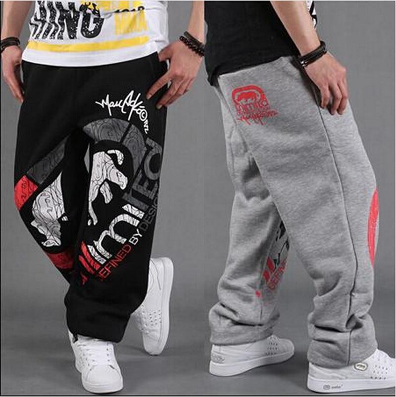 Fashion Mens Hip-Hop Track Pants Skate Rap Parkour Loose casual Boys pants pants mens full length trousers