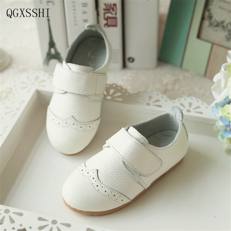 QGXSSHI 2017 New Spring Genuine Leather Children Shoes for Girls Flower Kids Casual Sneakers Hot Sale Girls Princess Shoes