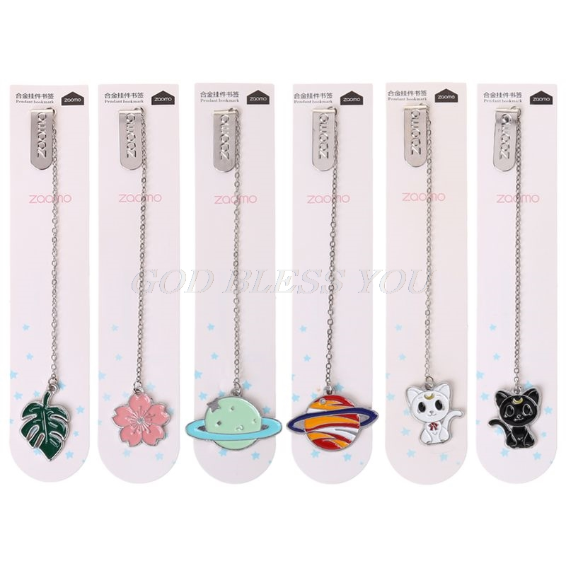 Stationery Bookmark Page-Clip School-Supplies Gifts Sakura Student Office Chain Cat
