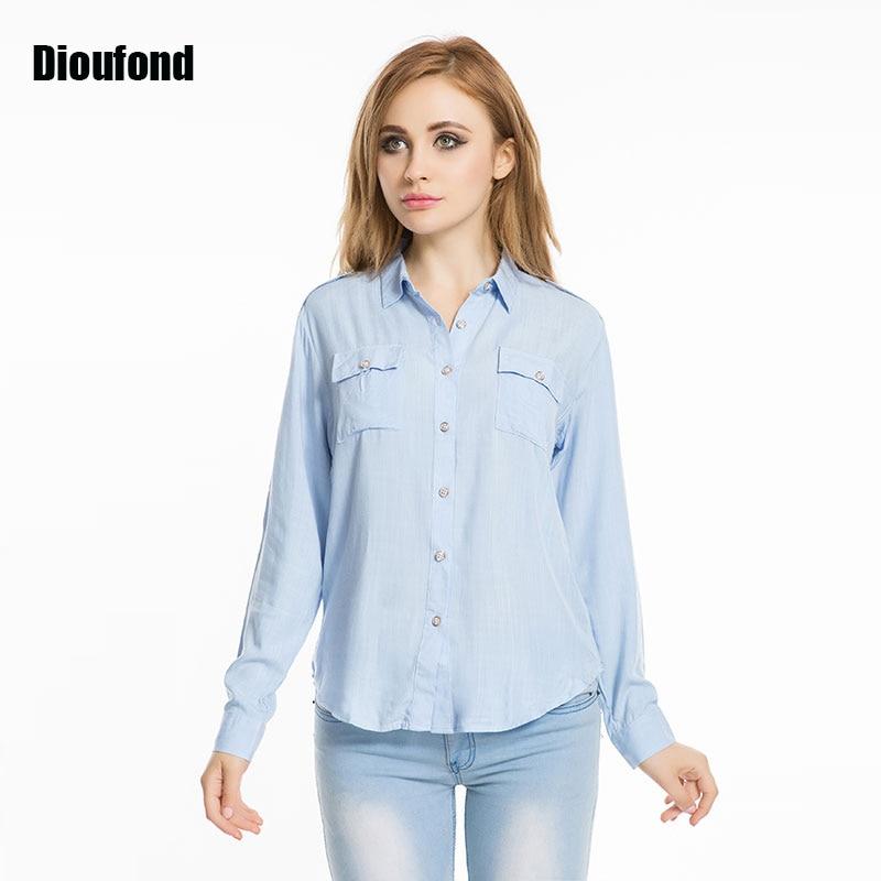Dioufond linen women blouse long sleeve blusas femininas for Long linen shirts for womens