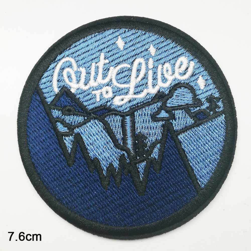 NEW LOT of 4 EMBROIDERED IRON ON PATCHES SPORTS LOGO PATCH