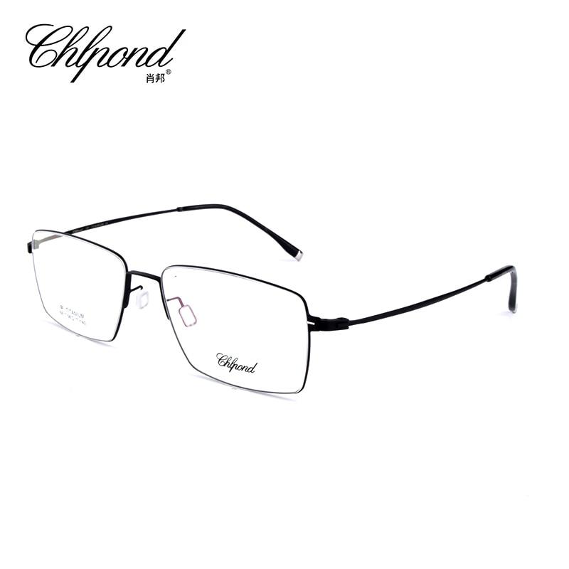 Chlpond Luxury 100% Pure Titanium Full Rim Brand Eyeglasses Men Optical Spectacle Frame Eye Prescription Glasses Oculos 6817 chlpond luxury 100% pure titanium full rim brand eyeglasses men optical spectacle frame eye prescription glasses oculos 6817