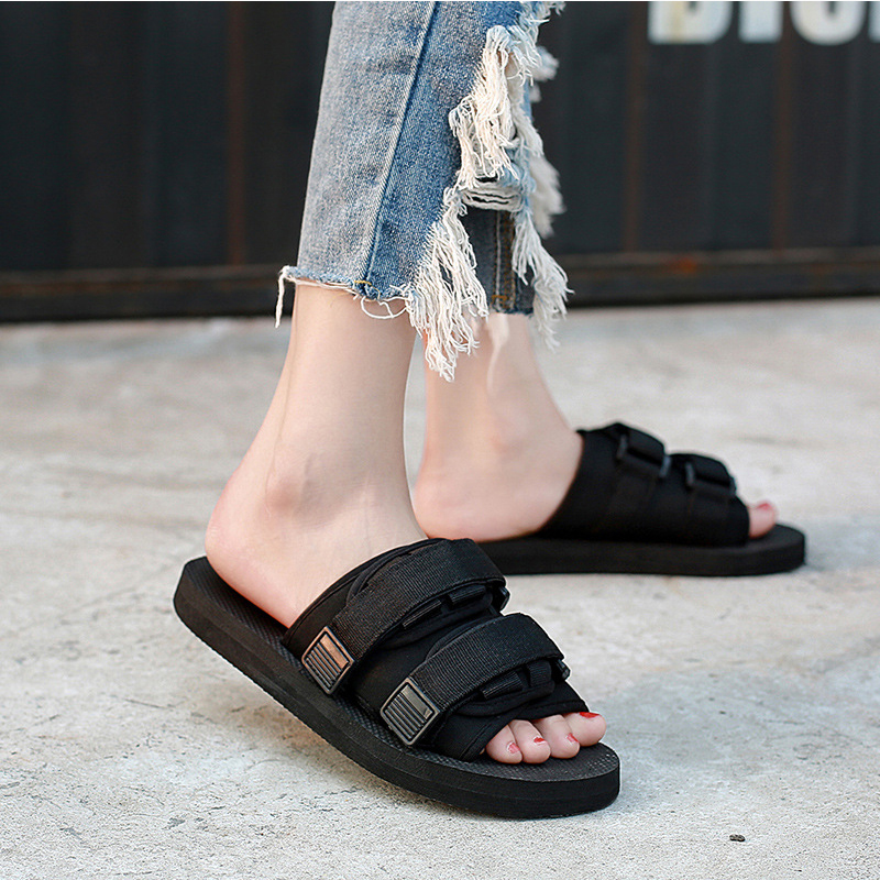 Summer Men 39 s Slippers 2019 Men 39 s Shoes Roman Women 39 s Shoes Summer Flip Flops Black Flat Bottom Couple Sandals Large Size 45 46 in Slippers from Shoes