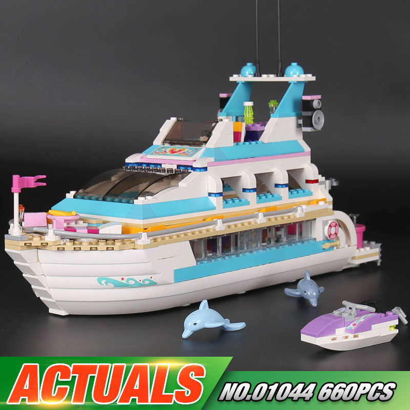 In Stock Lepin 01044 Genuine 660Pcs Girl Series The Dolphin Cruiser Set 41015 Building Blocks Bricks Funny Toys As Gifts For Kid the girl with all the gifts