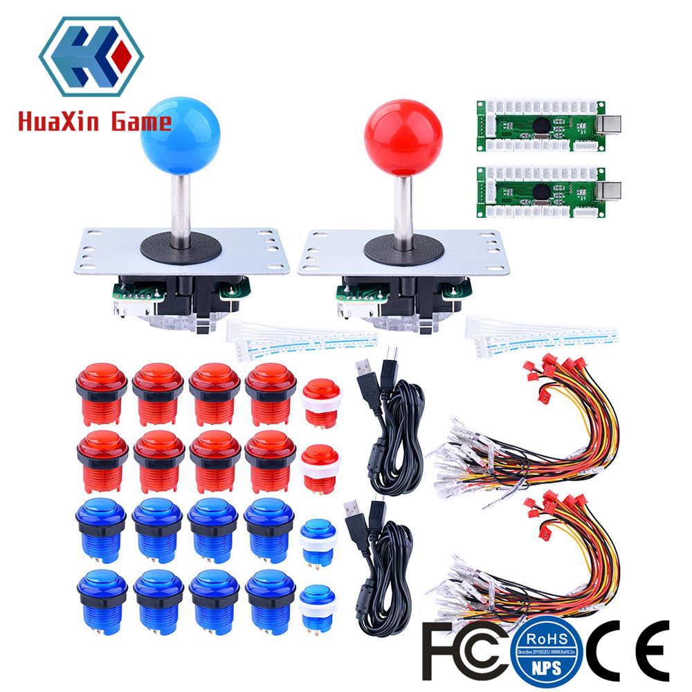 Arcade DIY Kit Zero Delay USB Encoder 8 Way Joystick 5V LED Illuminated Push Buttons for Mame Jamma Raspberry Pi Arcade Project