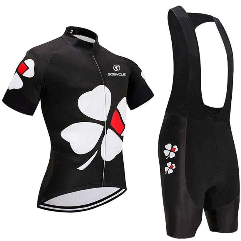 2018 UCI mannschaft SCHWARZE Blume pro radtrikot 9D gel pad bike shorts set Ropa Ciclismo sommer radfahren Maillot wear