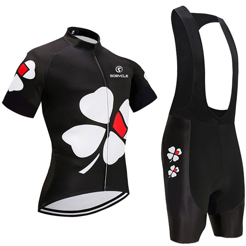2018 il team UCI Fiore NERO pro cycling jersey 9D gel pad bicchierini bike set Ropa ciclismo estate ciclismo Maillot usura
