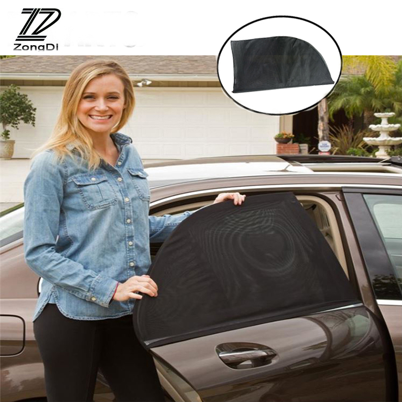 ZD 2Pcs For Ford Focus 2 3 Fiesta Mondeo Ranger Kuga Seat Leon Ibiza Lexus Car Window Windshield Sun Shade Visor Curtain Covers