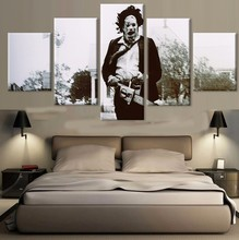5 Panel The Texas Chainsaw Massacre Poster Wall Art Canvas Painting Modern  Home Decor Canvas Print