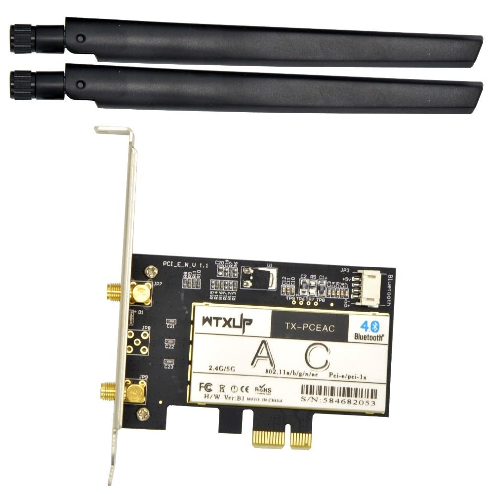 Wireless Ac 7265 867Mbps 802.11Ac Desktop Pci-E Wifi Adapter For Intel 7265Ac + Bluetooth 4.2 Bettter Than Intel Ac7260