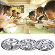 Stainless Steel Divided Dinner Plate