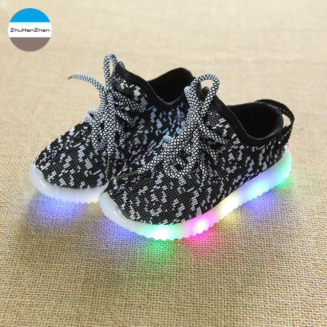 395d338ca 2018 1 to 10 years old LED lighted kids sneakers baby boys and girls  fashion shoes soft bottom shoes children casual shoes-in Sneakers from  Mother & Kids on ...
