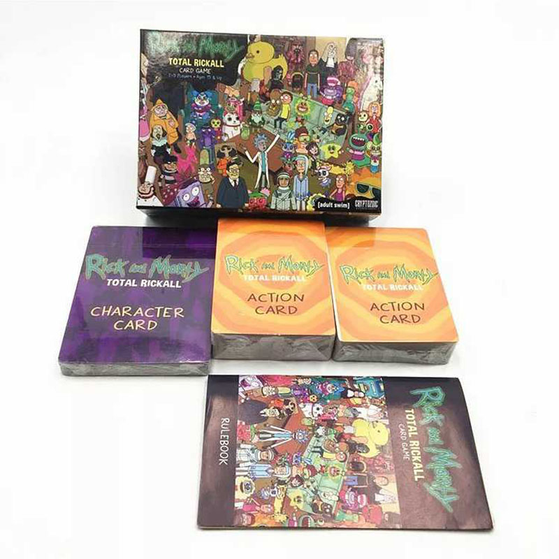 Rick And Morty Total Rickall Card Game Family Cooperative Party Game Collection Cards