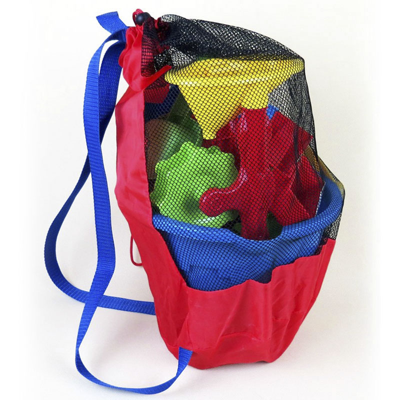 Portable Baby Supplies Storage Net Bag Children's Beach Toys Sports Clothes Towel Toy Supplies Storage Backpack