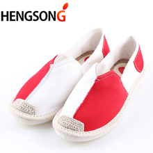 Women Sneakers 2018 Spring Summer Sports Shoes Mixed Color Slip-On Sporting Shoes Woman Canvas Walking Shoes Female Girls