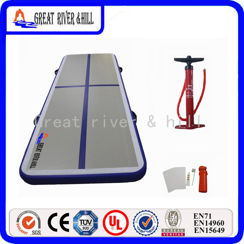 118inch great river hill air floor inflatable gymnastics mats for home use with free hand pump