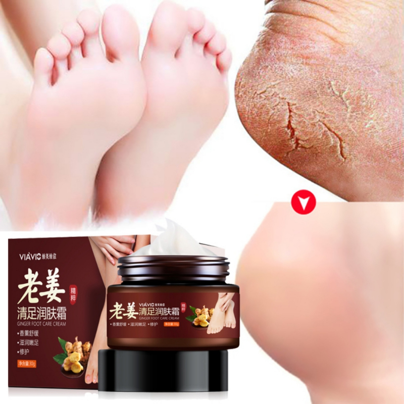 Ginger Essence Foot Cream Anti-Drying Anti-Crack Nourishing Skin Foot Essential Cream Foot Care Product Dry Cracked Feet