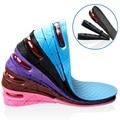 Envío Gratis 1 Par Mujeres Ajustable Altura Aumentar la Plantilla Zapatos Deportivos Pad Insertos Cojín Altura Plantillas para Los Hombres