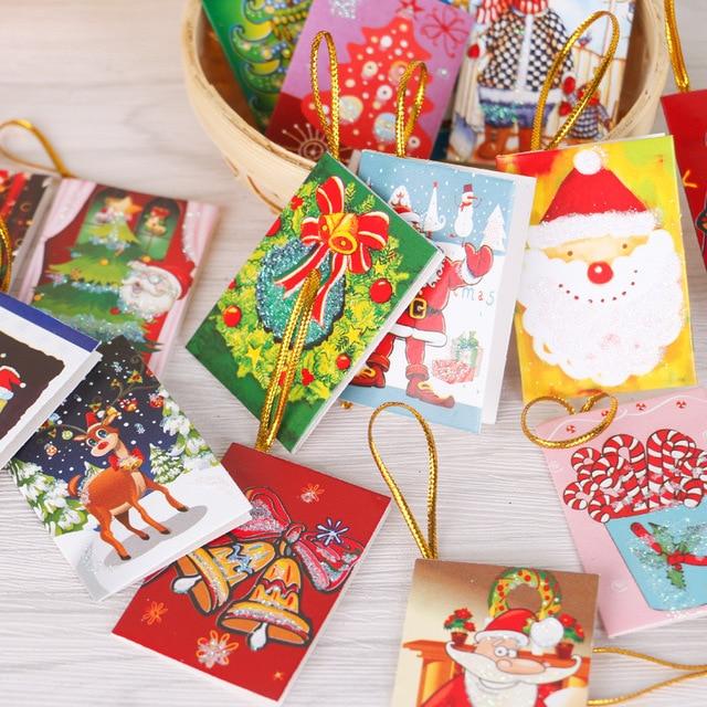 50pcs lot christmas tree hanging card mini christmas cards christmas