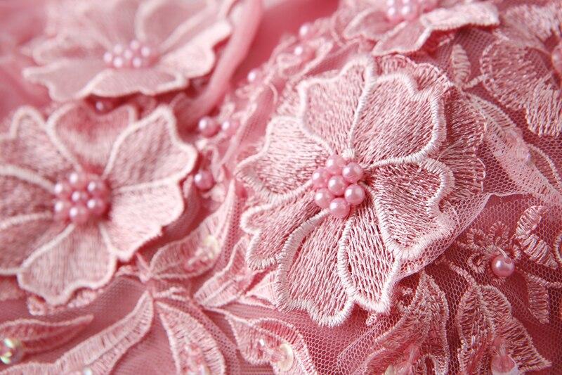 Marcher à côté de vous rose Appliques robes de bal robe de bal hors épaule longue chérie robes de soirée vestido de noiva abendkleider - 5