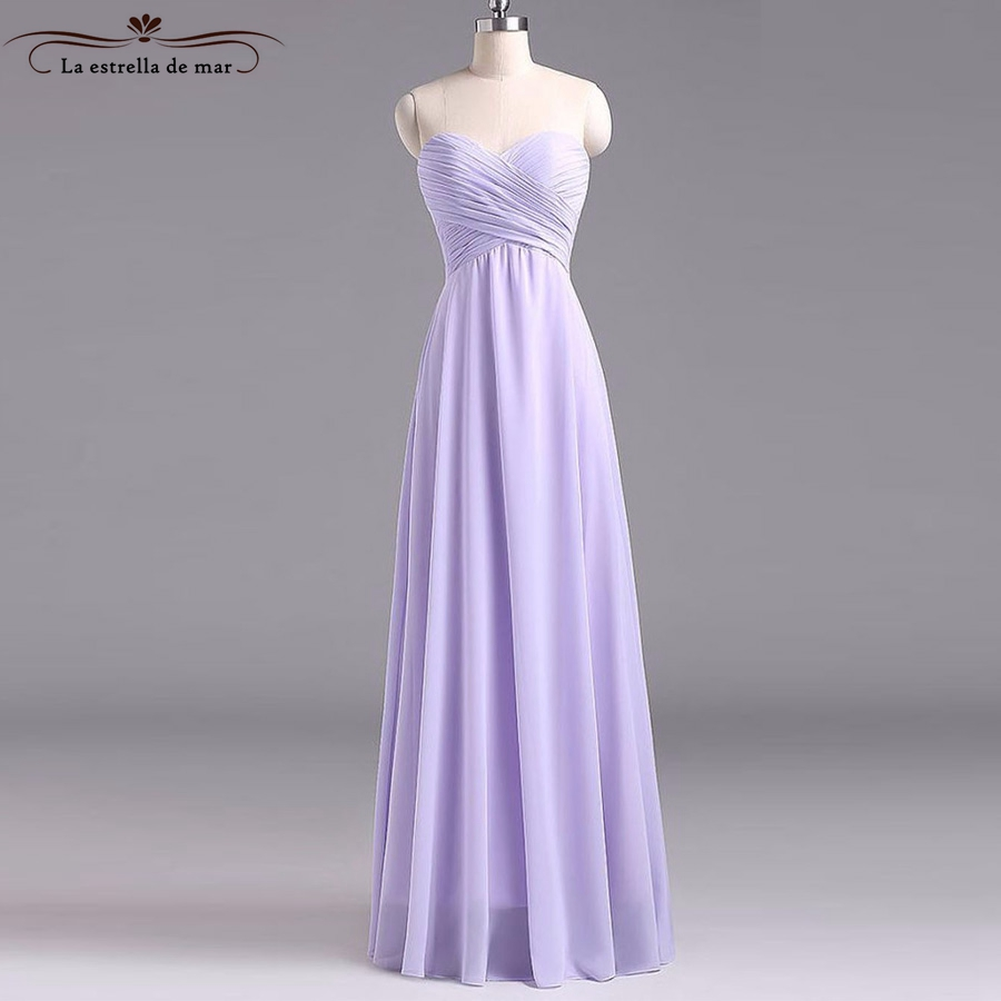 Vestido de dama de honra adulto 2018 new sexy sweetheart ALine lilac   bridesmaid     dresses   long cheap plus sizes wedding gowns