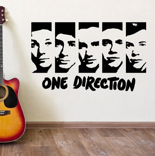 Beau ONE DIRECTION WALL STICKERS VINYL WALL ART ROOM STICKER DECAL 1D PORTRAIT  Fashion Wall Stickers For