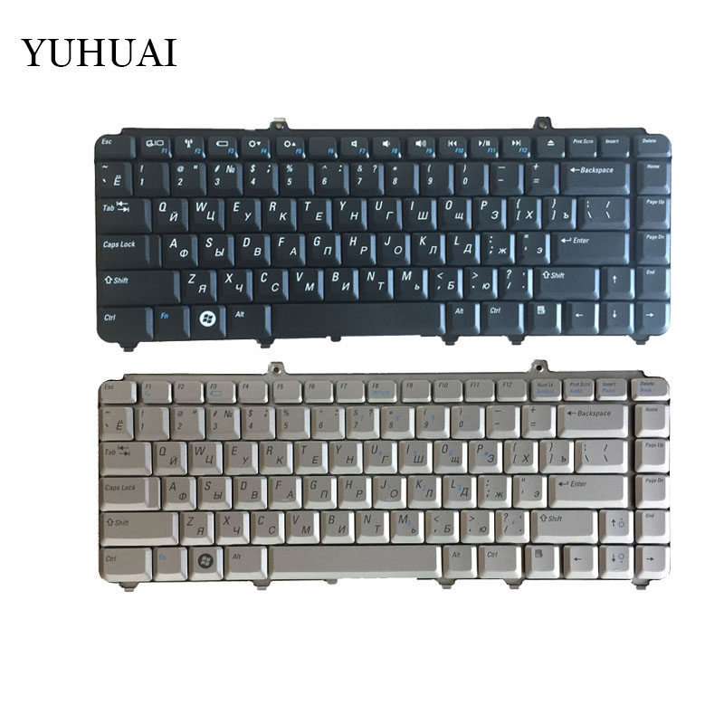 Russian Silver/Black FOR DELL 1420 1400 PP22L 1318 1545 PP29L 1520 1525 PP26L 1521 1526 PP14L PP41L M1530 Laptop Keyboard RU