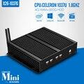 Fanless x86 mini-pc de X26-1037G C1037U 4g ram 320g hdd + wifi diy jogo de computador mini laptop computadores