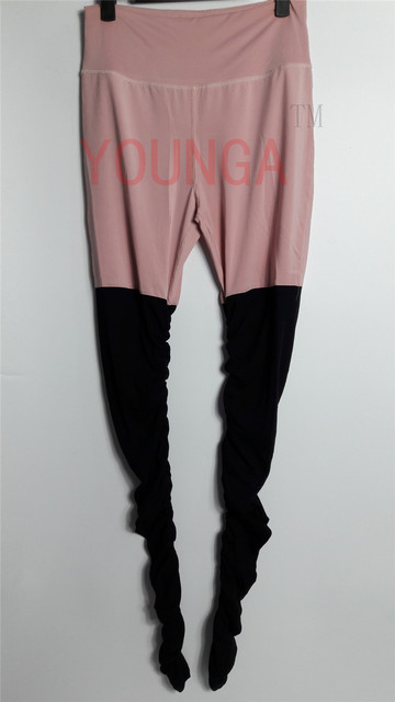Jigerjoger Women S Yoga Pants High Waisted Band Light Pink Patches
