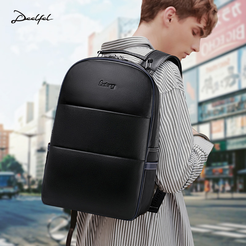 Bagaj ve Çantalar'ten Sırt Çantaları'de LIELANG Deri Sırt Çantası erkek Moda Gençlik Seyahat Çantası Erkek çantası okul Hakiki Deri Süet Deri Bilgisayar Çantası sırt çantası'da  Grup 2