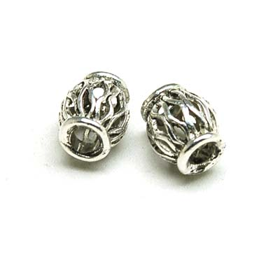 200 pcs vintange metal filigree antique silver cast hollow beads 10*12mm