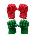 2 unids/lote Artículo Vendedor Caliente de Peluche de Juguete The Avengers Spiderman Boxeo Guante Juguetes Populares Para Los Niños de Bajo Precio de Alta Calidad