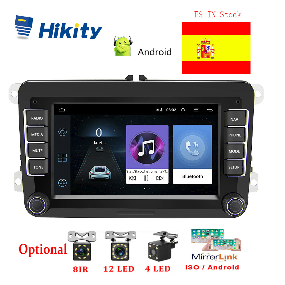 Hikity 2 din Android Car Radio GPS 7 Car Multimedia MP5 Player Autoradio 2din Stereo For