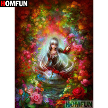 HOMFUN Full Square/Round Drill 5D DIY Diamond Painting Beauty flower Embroidery Cross Stitch 3D Home Decor Gift A13396 homfun full square round drill 5d diy diamond painting beauty flower embroidery cross stitch 3d home decor gift a13396