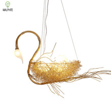 цена на modern nordic pendant lights  bedroom living room loft Restaurant cafe bar Luminaire Swan hanging light fixtures