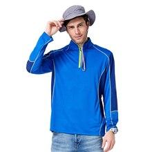 TECTOP Men Quick Dry T Shirt Polyester Breathable Men Outdoor Camping Tshirt Long Sleeve Hiking Climbing Cycling T-Shirt Men