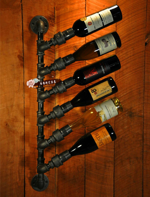 American Vintage Iron Wall Mounted Wine Rack Wine Rack Creative