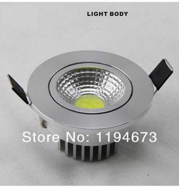 Бесплатная доставка COB 12 Вт теплый белый/холодный белый Встраиваемые dimmable Подпушка свет + Led Драйвер светодиодные лампы свет AC85-265V