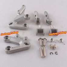 Aleación de aluminio Trasero de Pasajeros Estriberas Reposapiés Soportes para SUZUKI GSXR1000 2003 2004, motocicleta piezas de Repuesto Accesorios