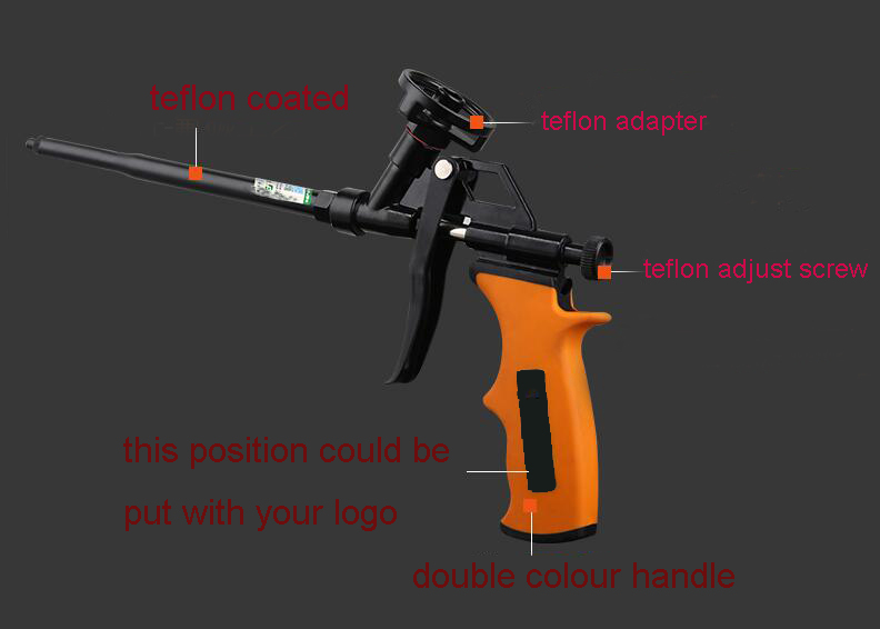 High Quality Teflon Foam Gun Teflon Coated PU Foam Gun(BC-1573)