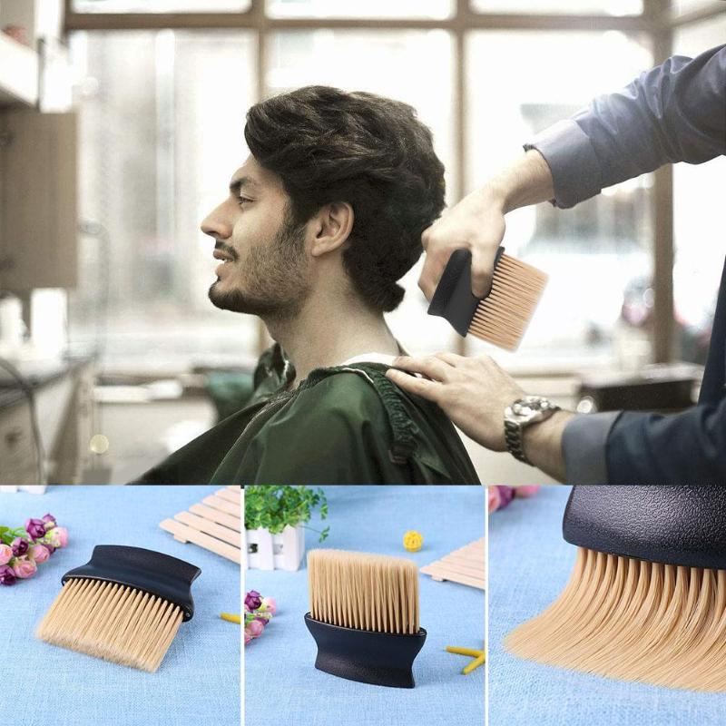 1pc Wooden Handle Hair Cleaning Brush Soft Comfortable Beard Face Washing Brush Pro Bath Salon Tools Supplies for sensitive skin image