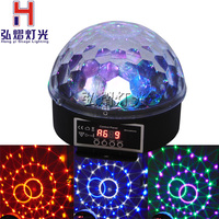 Full Color LED Bulb Crystal Auto Rotating Stage Effect DJ Disco Light Bulb Mini laser party Stage Light