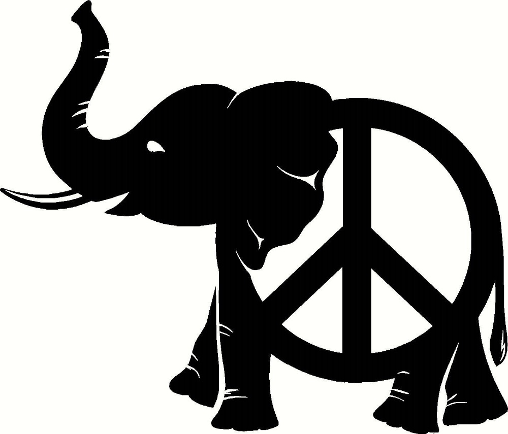 Car sticker design in india - Peace Elephant Decal Vinyl Home Decor Wall Car Truck Hippie Sticker Wall Decal Elephant Ganesh Buddhism India Namaste Om D571