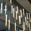 Кристаллическая лампа «метеоритный дождь»  современная простая креативная витрина для магазина  Хрустальная Подвесная лампа  светодиодна...