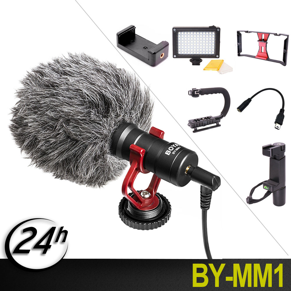 Original BOYA BY-MM1 Microphone Camera Video Interview Mic For Smooth Q/Smartphone/Mac Tablet/DSLR Camera Camcorder iPhone 6 Original BOYA BY-MM1 Microphone Camera Video Interview Mic For Smooth Q/Smartphone/Mac Tablet/DSLR Camera Camcorder iPhone 6
