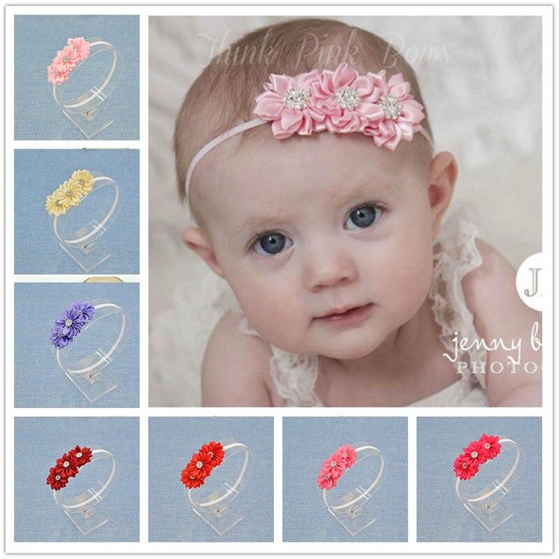 New Headwear Floral Headband Diamonds Flower Hairband Hair Weave